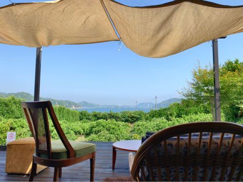 オミシマコーヒーからの瀬戸内海の絶景