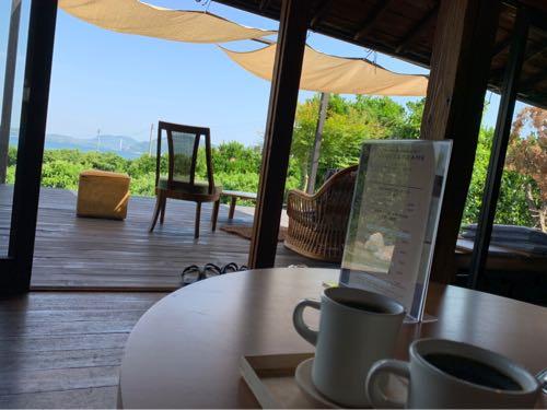 コーヒーとしまなみ海道の絶景