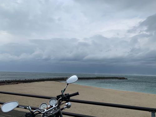 海とバイク